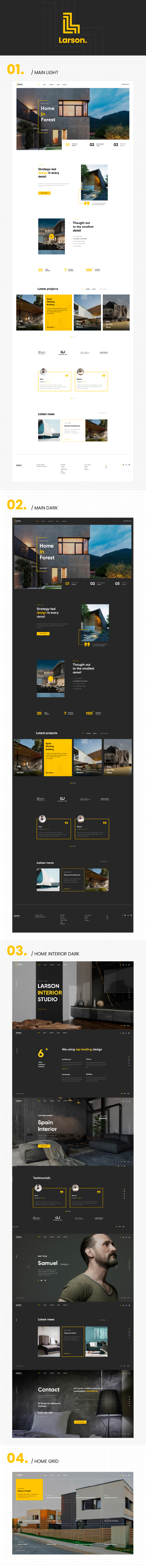 Larson | Architecture & Interior HTML template - 1